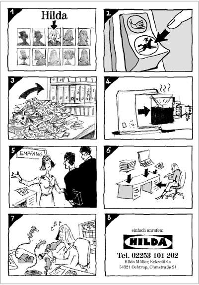 Kreative Bewerbungsunterlagen: Comic