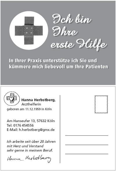 Kreative Bewerbungsunterlagen: Postkarte