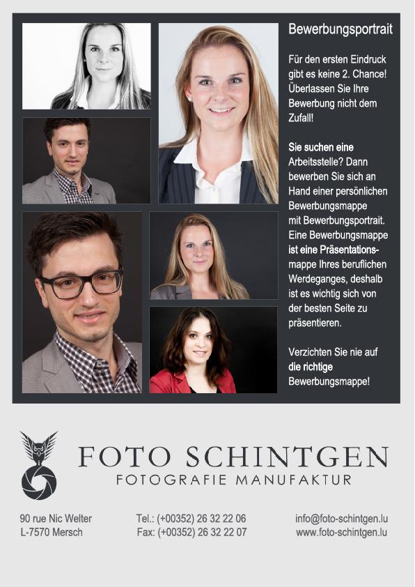 Fotograf für professionelle Bewerbungsfotos in LuxemburgFoto Schintgen