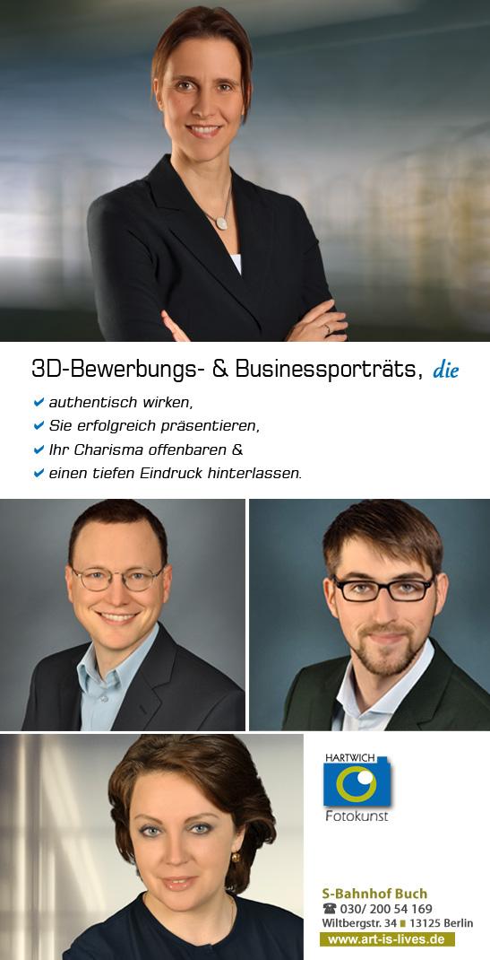 Fotograf für professionelle Bewerbungsfotos in Berlin Hartwich Fotokunst