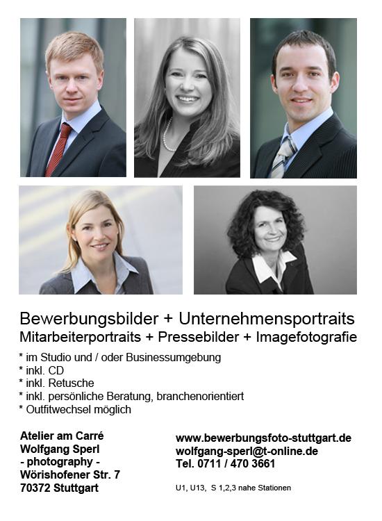 Fotograf für professionelle Bewerbungsfotos in Stuttgart Wolfgang Sperl photography