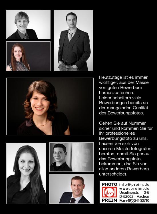 Fotograf für professionelle Bewerbungsfotos in Aachen Fotohaus Preim
